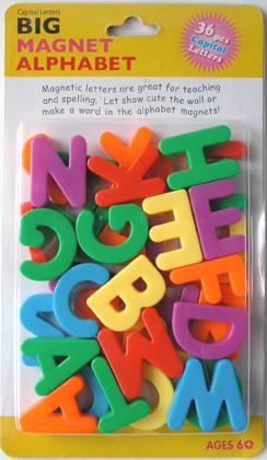ビッグマグネット・アルファベット(パッケージ) ビッグマグネット・アルファベット ミニマグネット